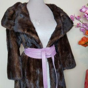 Robinson's Midi Length Dark Brown Mink Coat